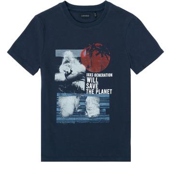 Textil Chlapecké Trička s krátkým rukávem Ikks XS10013-48-C Tmavě modrá
