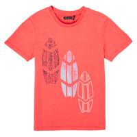 Textil Chlapecké Trička s krátkým rukávem Ikks XS10043-79-J Červená