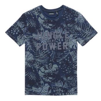 Textil Chlapecké Trička s krátkým rukávem Ikks XS10153-46-J Tmavě modrá