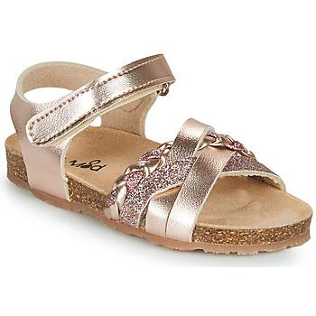 Boty Dívčí Sandály Mod'8 KOENIA Růžová / Zlatá