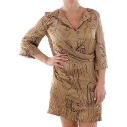 Textil Ženy Krátké šaty Sandro Ferrone ZANZARA CAMMELLO Marrón