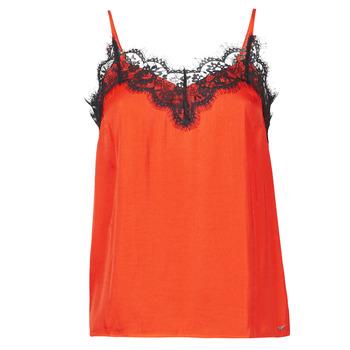 Textil Ženy Tílka / Trička bez rukávů  Les Petites Bombes AMY Oranžová