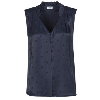 Textil Ženy Halenky / Blůzy Liu Jo WA1044-T4758-93923 Tmavě modrá
