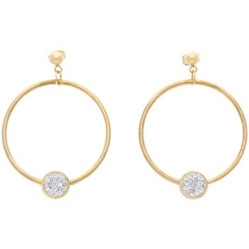 Hodinky & Bižuterie Ženy Náušnice Gilles Costa Dámské kruhové náušnice zlatá ocel NP020