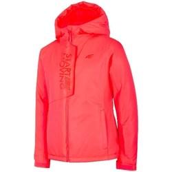 Textil Dívčí Bundy 4F JKUDN001 Červené