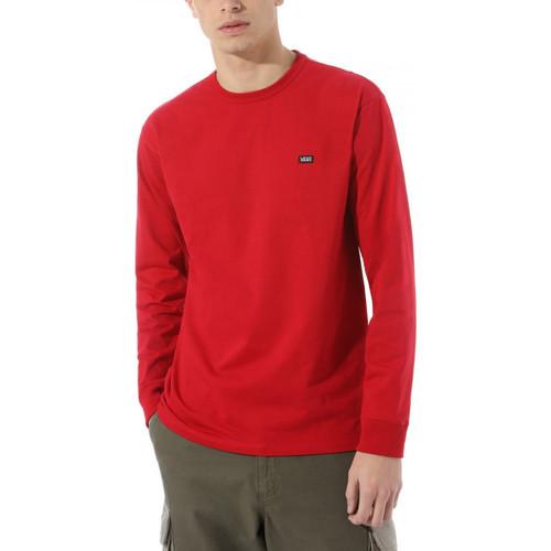 Textil Muži Trička s dlouhými rukávy Vans Off the wall clas Červená