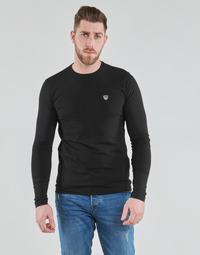 Textil Muži Trička s dlouhými rukávy Emporio Armani EA7 TRAIN CORE SHIELD Černá