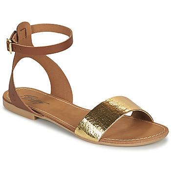 Boty Ženy Sandály Betty London GIMY Velbloudí hnědá / Zlatá
