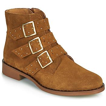 Boty Ženy Kotníkové boty Betty London LYS Zlatohnědá
