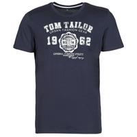 Textil Muži Trička s krátkým rukávem Tom Tailor  Tmavě modrá