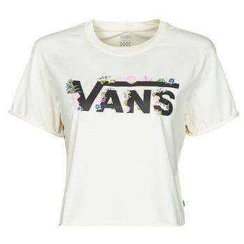 Textil Ženy Trička s krátkým rukávem Vans BLOZZOM ROLL OUT Bílá