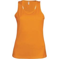 Textil Ženy Tílka / Trička bez rukávů  Proact Débardeur femme  Sport orange
