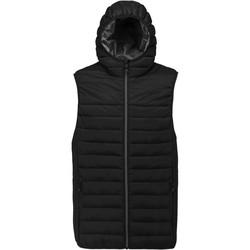 Textil Muži Svetry / Svetry se zapínáním Proact Doudoune sans manches à capuche noir