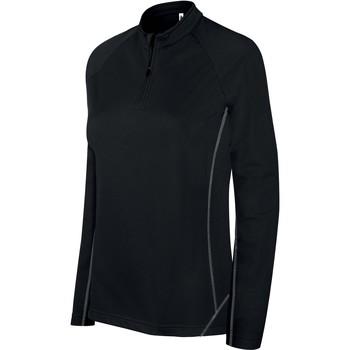 Textil Ženy Teplákové bundy Proact Sweat femme  Running 1/4 Zip noir