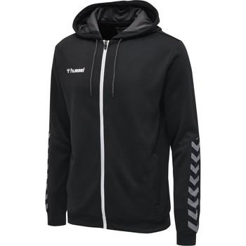 Textil Muži Mikiny Hummel Veste  zip hmlAUTHENTIC Poly noir/blanc