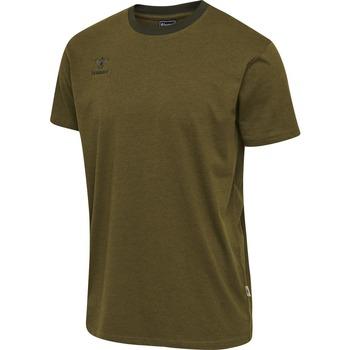 Textil Děti Trička s krátkým rukávem Hummel T-shirt enfant  Lmove vert foncé
