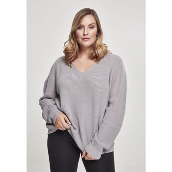 Textil Ženy Mikiny Urban Classics Sweatshirt femme grandes tailles Urban Classic back lace up gris