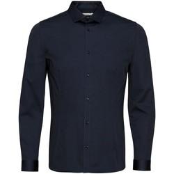 Textil Muži Košile s dlouhymi rukávy Jack & Jones Chemise  Parma bleu marine