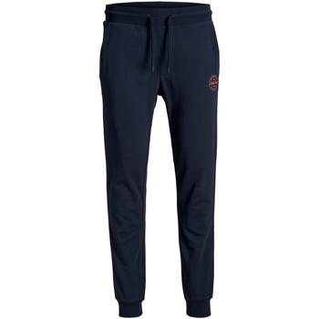 Textil Muži Teplákové kalhoty Jack & Jones Jogging  Gordon Shark basic bleu marine