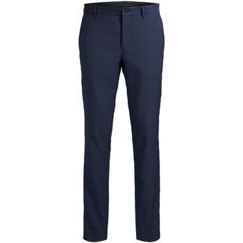 Textil Muži Oblekové kalhoty Jack & Jones Pantalon  Solaris bleu foncé