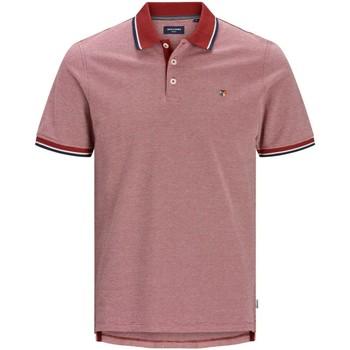 Textil Muži Polo s krátkými rukávy Jack & Jones Polo  Bluwin rouge clair