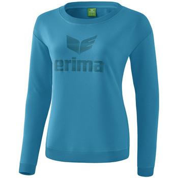 Textil Ženy Trička s dlouhými rukávy Erima Sweat-shirt femme  Essential bleu clair/bleu