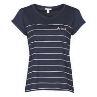 Textil Ženy Trička s krátkým rukávem Esprit T-SHIRTS Modrá