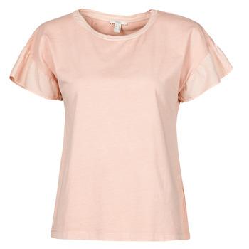 Textil Ženy Trička s krátkým rukávem Esprit T-SHIRTS Růžová