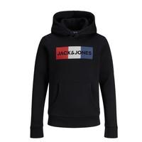 Textil Chlapecké Mikiny Jack & Jones JJECORP LOGO PLAY SWEAT Černá