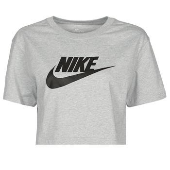Textil Ženy Trička s krátkým rukávem Nike NSTEE ESSNTL CRP ICN FTR Šedá / Černá