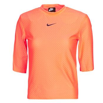 Textil Ženy Trička s krátkým rukávem Nike NSICN CLSH TOP SS MESH Oranžová