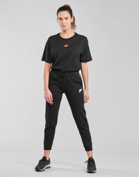 Textil Ženy Teplákové kalhoty Nike NSMLNESSNTL FLC MR JGGR Černá / Bílá