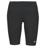 Textil Ženy Legíny Nike NSESSNTL MR BIKER SHORT Černá / Bílá