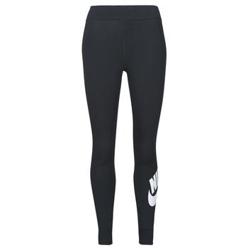 Textil Ženy Legíny Nike NSESSNTL GX HR LGGNG FTRA Černá / Bílá