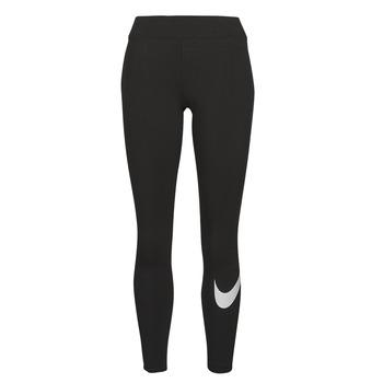 Textil Ženy Legíny Nike NSESSNTL GX MR LGGNG SWSH Černá / Bílá