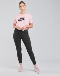 Textil Ženy Teplákové kalhoty Nike NSAIR PANT FLC MR Černá / Bílá