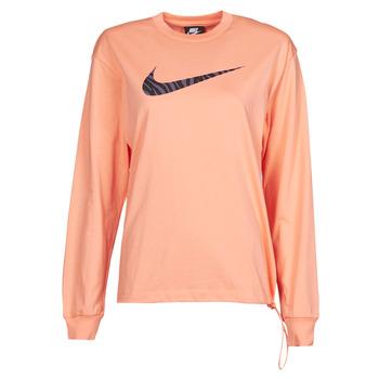 Textil Ženy Trička s dlouhými rukávy Nike NSICN CLSH LS TOP HBR Růžová / Fialová