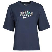 Textil Ženy Trička s krátkým rukávem Nike NSTEE BOXY NATURE Modrá