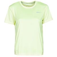 Textil Ženy Trička s krátkým rukávem Nike MILER TOP SS Zelená / Šedá