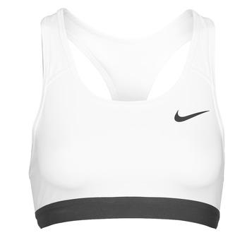 Textil Ženy Sportovní podprsenky Nike DF SWSH BAND NONPDED BRA Bílá / Černá