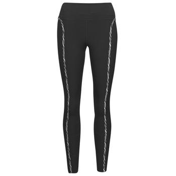 Textil Ženy Legíny Nike NIKE ONE LUXE ICNCLSH TGT Černá / Fialová