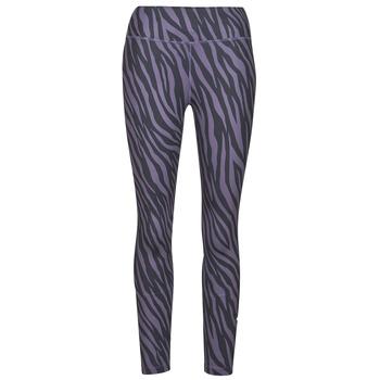 Textil Ženy Legíny Nike NIKE ONE 7/8 AOP TGT ICNCLSH Fialová / Černá