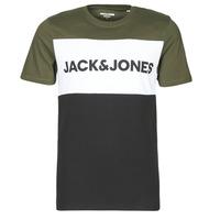Textil Muži Trička s krátkým rukávem Jack & Jones JJELOGO Khaki