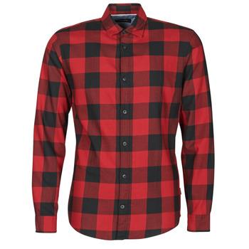 Textil Muži Košile s dlouhymi rukávy Jack & Jones JJEGINGHAM Červená / Černá