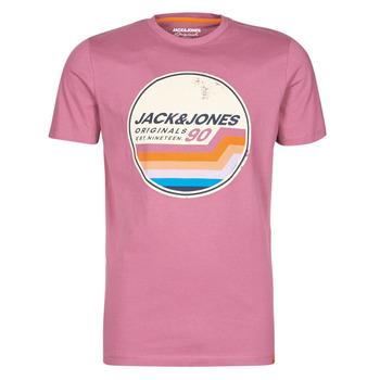 Textil Muži Trička s krátkým rukávem Jack & Jones JORTYLER Růžová