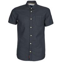 Textil Muži Košile s krátkými rukávy Jack & Jones JORABEL Tmavě modrá