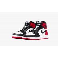 Boty Kotníkové tenisky Nike Air Jordan 1 High Satin Black Toe Black/Black-White-Varsity Red