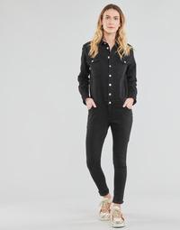 Textil Ženy Overaly / Kalhoty s laclem Betty London OPANTS Černá