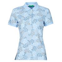 Textil Ženy Polo s krátkými rukávy Benetton CHOLU Modrá