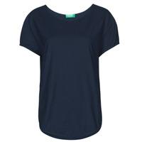 Textil Ženy Trička s krátkým rukávem Benetton FOLLIA Modrá